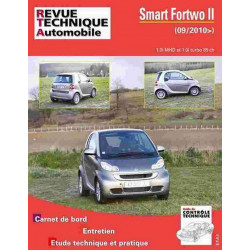 REVUE TECHNIQUE SMART FORTWO II - RTA HS005 Librairie Automobile SPE 9782726800515