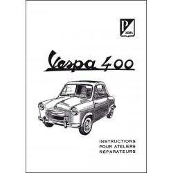VESPA 400 ATELIER RÉPARATION Librairie Automobile SPE P109