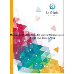 Management et Gestion des Unités Commerciales BTS / EDITION Le génie / AP035-9782843476181