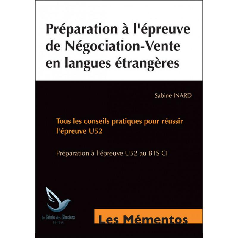 PRÉPARATION À L'ÉPREUVE DE NÉGOCIATION-VENTE EN LANGUES ÉTRANGÈRES / LE GENIE / EX098-9782843479441