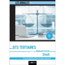 Annales De Révisions DROIT BTS Tertiaires / LE GENIE / EX090-9782375633045