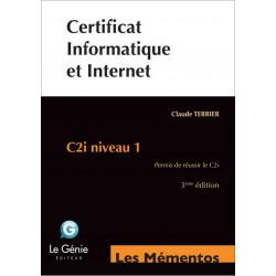 Mémentos De Révision Certificat Informatique et Internet Le génie EX089 Librairie Automobile SPE EX089