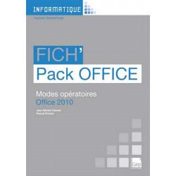 Fascicule Fich' PACK OFFICE 2010 INFORMATIQUE TOUS NIVEAUX / LE GENIE / AP243-9782844258175