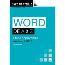 WORD 2010 De A à Z Niveau Débutants / LE GENIE / AP233-9782844258069