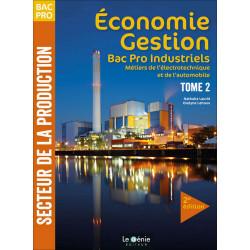 Economie Gestion BAC PRO Métiers De Électrotechnique Tome 2 Le Génie AP182 Librairie Automobile SPE AP182