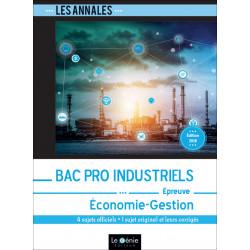 Annales Economie Gestion BAC PRO INDUSTRIELS Le Génie EX277 Librairie Automobile SPE EX277