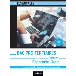 Annales de Révisions Économie-Droit Bac Pro Tertiaires / LE GENIE / EX278-9782375633151