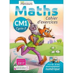 Cahier d'exercices iParcours MATHS CM1 (éd. 2017) Génération 5 Librairie Automobile SPE 9782362461750