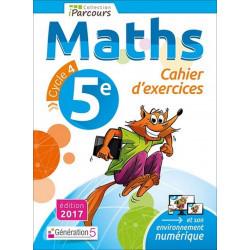 Cahier d'exercices iParcours MATHS 5e (éd. 2017) Génération 5 Librairie Automobile SPE 9782362461002