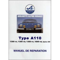 MANUEL DE RÉPARATION ALPINE A110 Librairie Automobile SPE 9782360590803