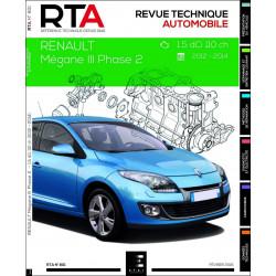 REVUE TECHNIQUE RENAULT MEGANE III de 2012 à 2014 Librairie Automobile SPE 9782726880159