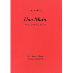 UNE MAIN de C.F RAMUZ Librairie Automobile SPE UNE MAIN