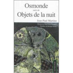 Osmonde Suivi De Objets De La Nuit de Jean Paul Martino Edition Les Hauts-Fonds
