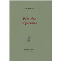 FETE DES VIGNERONS de C.F RAMUZ Librairie Automobile SPE FETE DES VIGNERONS