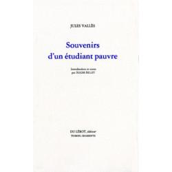 SOUVENIRS D'UN ÉTUDIANT PAUVRE de JULES VALLES Librairie Automobile SPE SOUVENIRS ETUDIANT