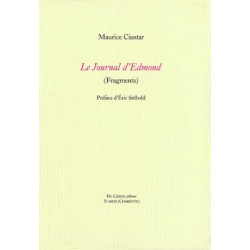 LE JOURNAL D'EDMOND ( Fragments ) de MAURICE CIANTAR Librairie Automobile SPE LE JOURNAL D'EDMOND