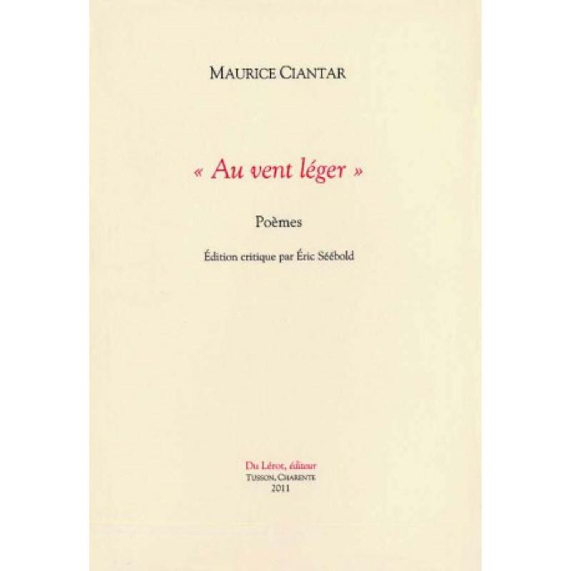 AU VENT LÉGER - POÈMES de MAURICE CIANTAR Librairie Automobile SPE AU VENT LÉGER