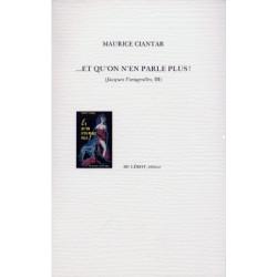 ET QU'ON N'EN PARLE PLUS ! de MAURICE CIANTAR Librairie Automobile SPE ET QU'ON N'EN