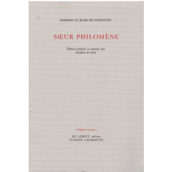SŒUR PHILOMÉNE de Edmond et Jules de GONCOURT Librairie Automobile SPE SOEUR PHILOMÉNE