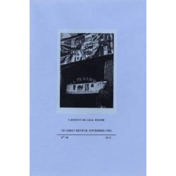 CARNETS DE LELL BOEHM - LE LÉROT RÊVEUR N° 43 Librairie Automobile SPE CARNETS DE LELL