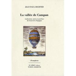 LA VALLÉE DE CAMPAN de JEAN-PAUL RICHTER Librairie Automobile SPE LA VALLÉE DE CAMPAN