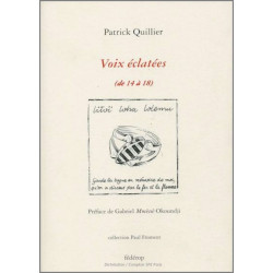 9782857922384 VOIX ÉCLATÉES (de 14 à 18) De Patrick QUILLIER Ed. Fédérop