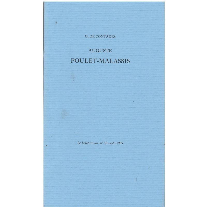 AUGUSTE POULET-MALASSIS de G. DE CONTADES Librairie Automobile SPE AUGUSTE