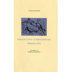 PERSISTANCE D'IMPRESSIONS OMBREUSES de CORDEBARD Librairie Automobile SPE PERSISTANCE