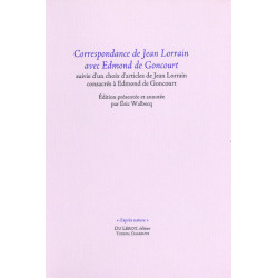 CORRESPONDANCE DE JEAN LORRAIN AVEC EDMOND DE GONCOURT Librairie Automobile SPE LORRAIN AVEC EDMOND