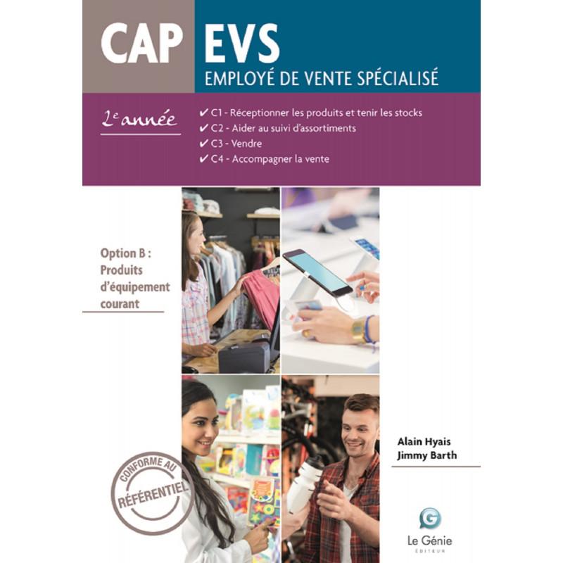 LIVRE SCOLAIRE CAP EVS C1.C2.C3.C4 - Option B - 2e année - AP288 EDITIONS LE GENIE  9782375631195