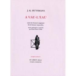 A VAU-L'EAU suivi de Sonnet saignant et de Sonnet masculin Librairie Automobile SPE A VAU L'EAU