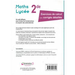 Maths Lycée Seconde - Réviser les fondamentaux - Génération 5 Librairie Automobile SPE 9782362462320
