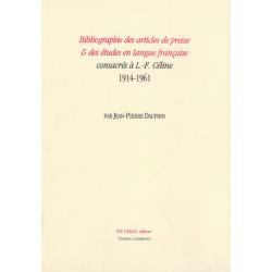 BIBLIOPGRAPHIE DES ARTICLES DE PRESSE ET DES ETUDES EN LANGUE FRANÇAISE 1914-1961 Librairie Automobile SPE 9782355480461