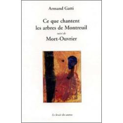 9782356520272 CE QUE CHANTENT LES ARBRES DE MONTREUIL