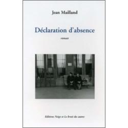 DÉCLARATION D'ABSENCE Librairie Automobile SPE 9782914461429