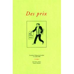 DES PRIX - Colloque des Invalides 2008 Librairie Automobile SPE 9782355480294