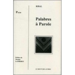 PALABRES A PAROLE de KHAL Librairie Automobile SPE 9782909468341