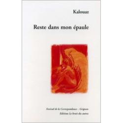 RESTE DANS MON ÉPAULE de Ahmed KALOUAZ Librairie Automobile SPE 9782914461313