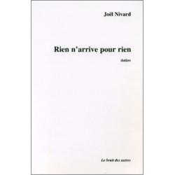 RIEN N'ARRIVE POUR RIEN de JOEL NIVARD Librairie Automobile SPE 9782909468853