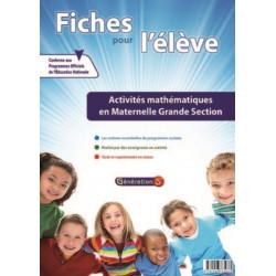 Evolu Fiches : Activités mathématiques en Grande section - Génération 5 Librairie Automobile SPE 9782916785035