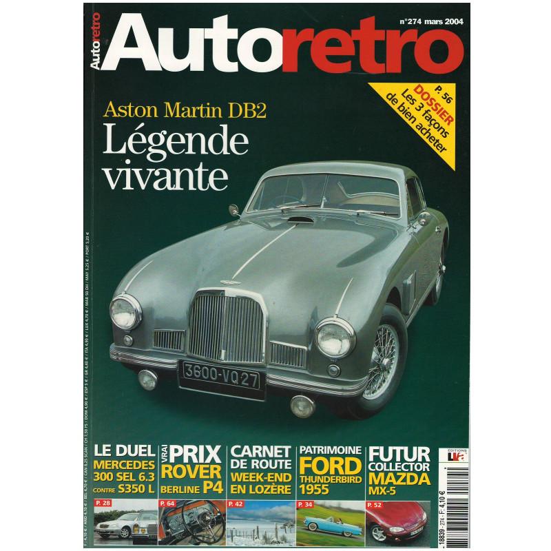 Autoretro n° 274 - ASTON MARTIN DB2 Librairie Automobile SPE autoretro 274