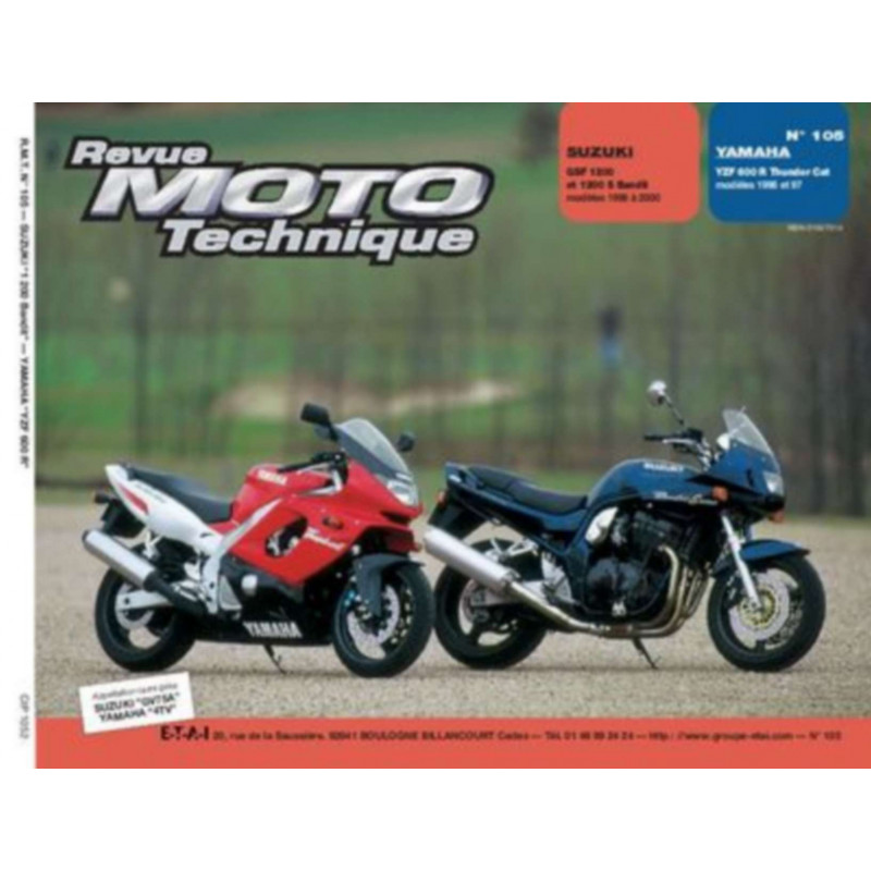 REVUE MOTO TECHNIQUE SUZUKI GSF 1200 et BANDIT de 1996 à 2000 - RMT 105 Librairie Automobile SPE 9782726891346
