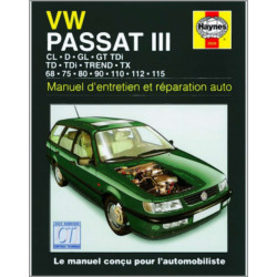 MANUEL ENTRETIEN ET RÉPARATION AUTO VOLKSWAGEN PASSAT III de 88 à 96 Librairie Automobile SPE 9781859605288