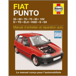 MANUEL ENTRETIEN ET RÉPARATION AUTO FIAT PUNTO (ESS et DIE) de 1993 à 1999 Librairie Automobile SPE 9781859602942