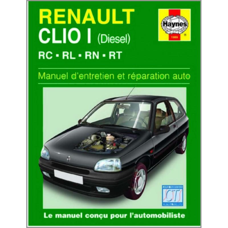 MANUEL ENTRETIEN ET RÉPARATION AUTO RENAULT CLIO I DIESEL de 1990 à 1998 Librairie Automobile SPE 9781850109891