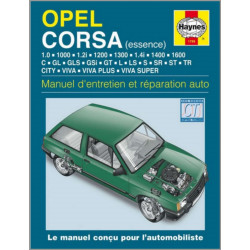 MANUEL ENTRETIEN ET RÉPARATION AUTO OPEL CORSA ESSENCE De 1983 À 1993 Librairie Automobile SPE 038345017995