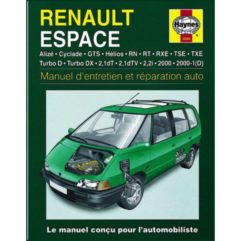 MANUEL ENTRETIEN ET REPTATION AUTO RENAULT ESPACE de 1984 à 1996 Librairie Automobile SPE 9781859602096