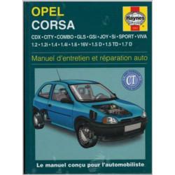 MANUEL ENTRETIEN ET RÉPARATION AUTO OPEL CORSA ESSENCE de 1983 à 1993 Librairie Automobile SPE 9781859603642