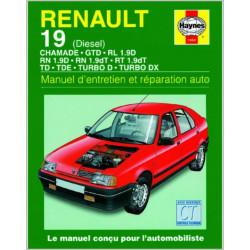 9781850109501 MANUEL ENTRETIEN ET RÉPARATION AUTO RENAULT 19