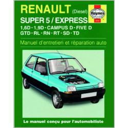 9781859600221 MANUEL ENTRETIEN ET RÉPARATION AUTO RENAULT SUPER 5